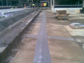 Expansion joints repaired during the winter months using Belzona materials