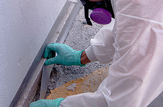 Preparing application area of joint sealant