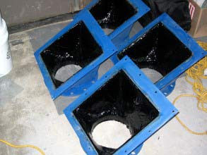 Lined with Belzona 2111 (D&A Hi-Build Elastomer)
